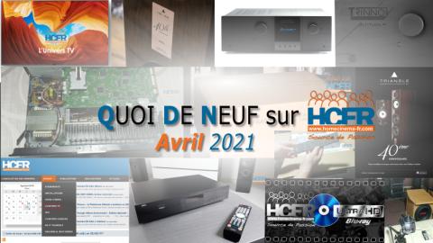 QUOI DE NEUF sur HCFR  – (QDN) – Avril 2021
