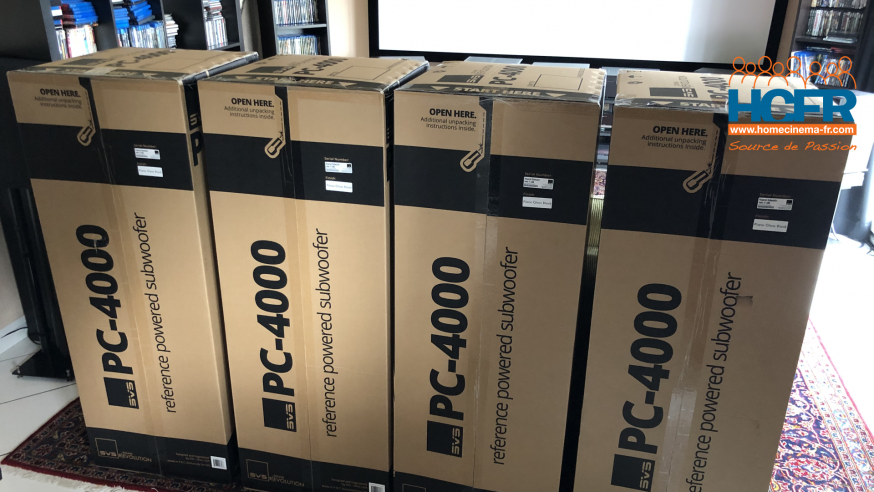 Vidéo HCFR : SVS PC-4000, Unboxing