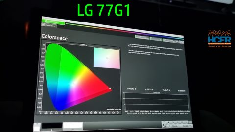 Vidéo HCFR : LG 77G1, TV OLED evo – Auto Calibration