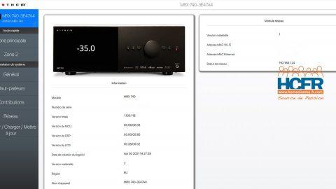 Vidéo HCFR : Anthem MRX 740 – Menus