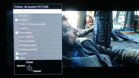 Vidéo HCFR : Panasonic 65JZ2000 – Configuration et Menus