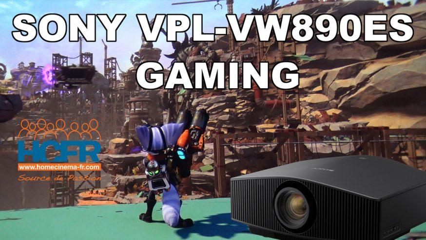 Vidéo HCFR : Sony VPL-VW890ES – Gaming