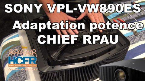 Vidéo HCFR : Sony VPL-VW890ES – Installation sur support Chief